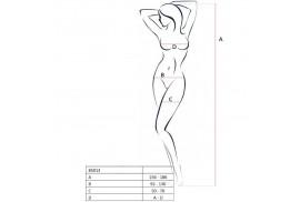 passion woman bs013 bodystocking blanco talla unica