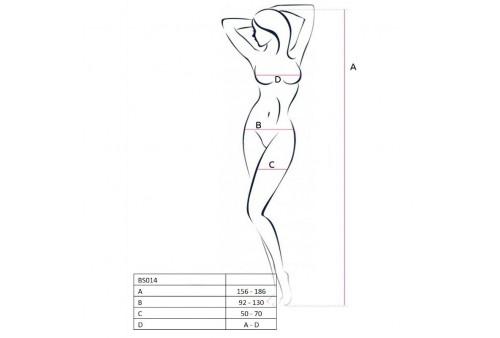 passion woman bs014 bodystocking blanco talla unica