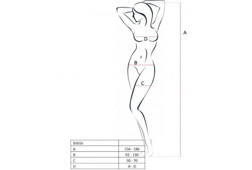 passion woman bs016 bodystocking blanco talla unica
