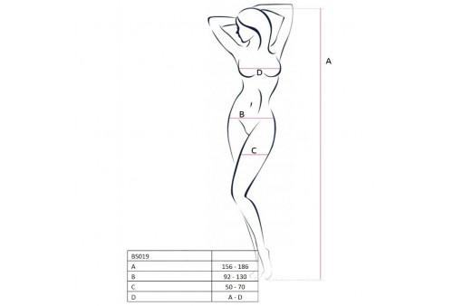 passion woman bs019 bodystocking blanco talla unica