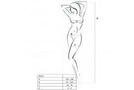 passion woman bs031 bodystocking negro talla unica