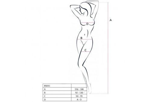 passion woman bs031 bodystocking blanco talla unica
