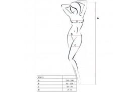 passion woman bs032 bodystocking blanco talla unica