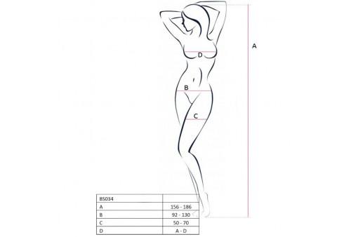 passion woman bs034 bodystocking blanco talla unica