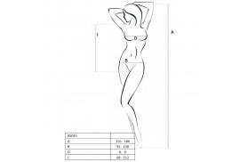 passion woman bs035 bodystocking blanco talla unica