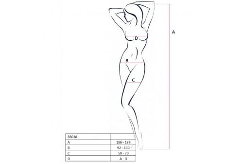 passion woman bs038 bodystocking blanco talla unica