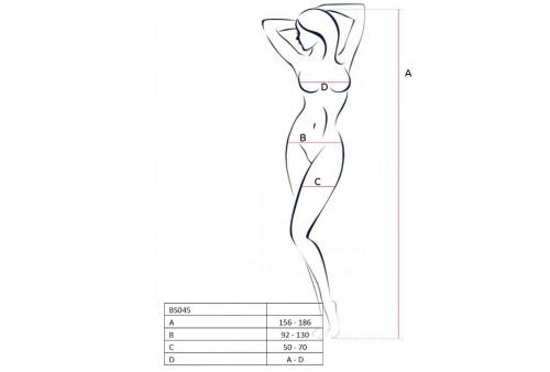 passion woman bs045 bodystocking blanco talla unica