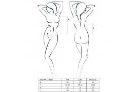 passion woman justina corset negro talla s m