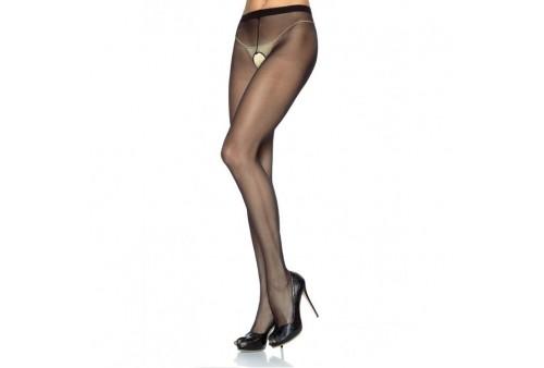 leg avenue panties de nylon con abertura en la entrepierna negro