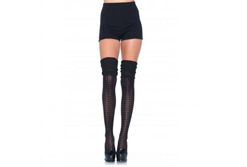 leg avenue calcetines puntilla fruncidos negro