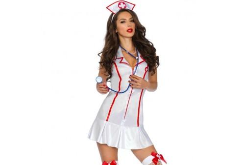 leg avenue disfraz jefa enfermeria 3 piezas talla s m