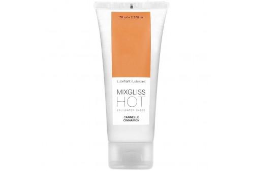 mixgliss lubricante efecto calor sabor a canela 70ml