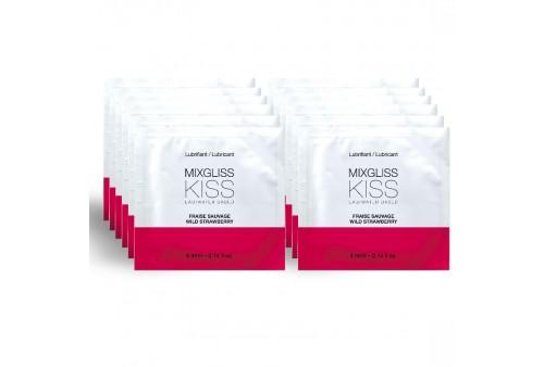 mixgliss lubricante base agua sabor a fresa 12 monodosis 4ml