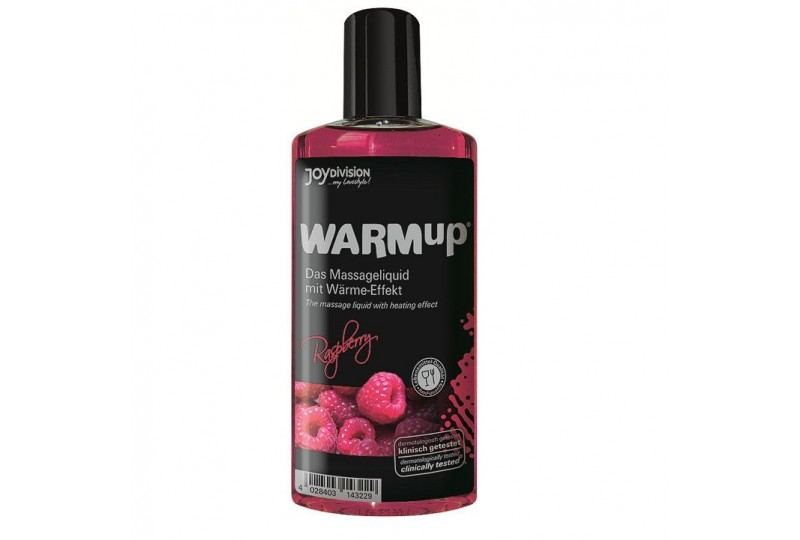 aceite de masaje efecto calor frambuesa 150ml