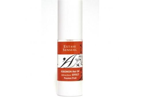 extase sensuel aceite de masaje efecto calor con feromonas fruta de la pasion 30ml