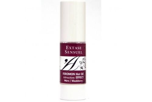 extase sensuel aceite de masaje efecto calor con feromonas mora 30ml