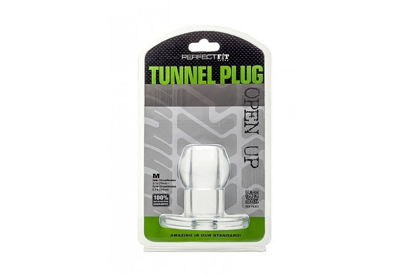 perfect fit plug tunnel silicona transparente m