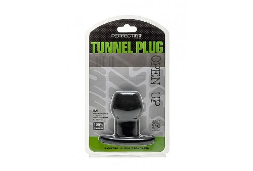 perfect fit plug tunnel silicona negro m