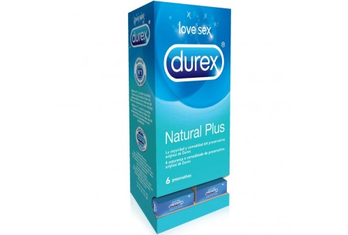 expositor 27 uds durex natural plus 6 unidades