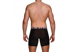 macho ms077 boxer deportivo largo negro talla m