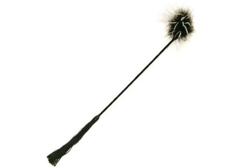 fusta pluma whipper tickler blanco negro