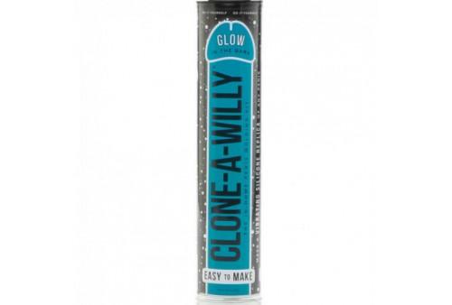 clone a willy clonador pene azul luminiscente con vibrador