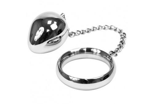 metalhard cock ring 40mm cadena con bola metal