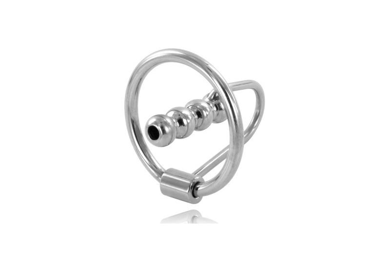 metalhard anillo glande con plug uretral 28mm