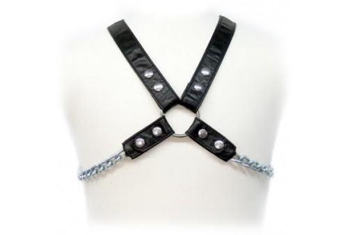 leather body chain harness ii