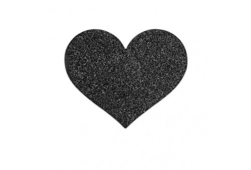 bijoux pezoneras flash corazón negro