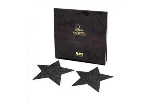 bijoux pezoneras flash estrella negra