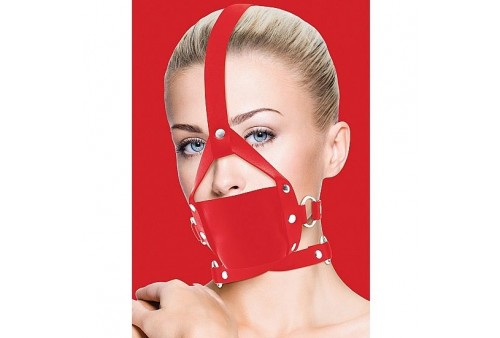 ouch leather mordaza rojo con ajustes