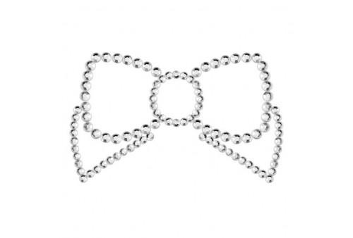 mimi bow cubre pezones plata